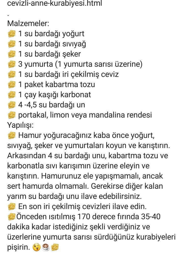 ANNE KURABİYESİ