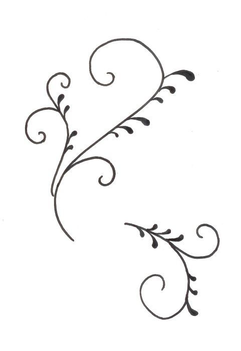 Scroll Template for cake decorating Cake decorating ...