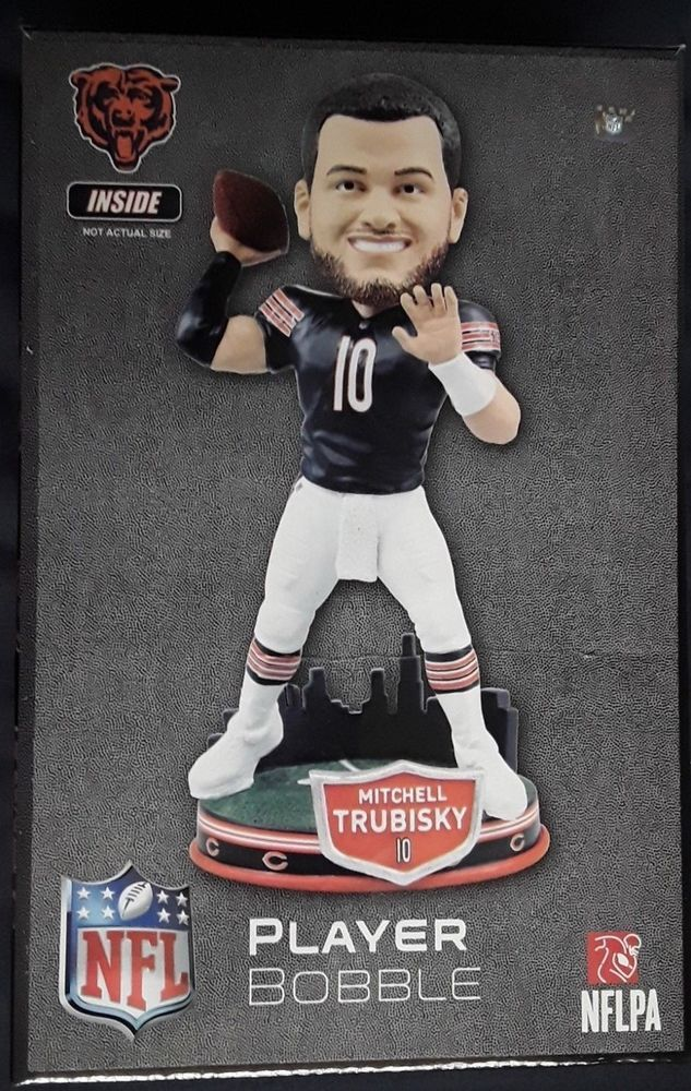 65d39a8ab7f Mitchell Trubisky NFC CHAMPS Chicago Bears City Skyline Bobblehead ONLY 1  LEFT  ForeverCollectibles  ChicagoBears