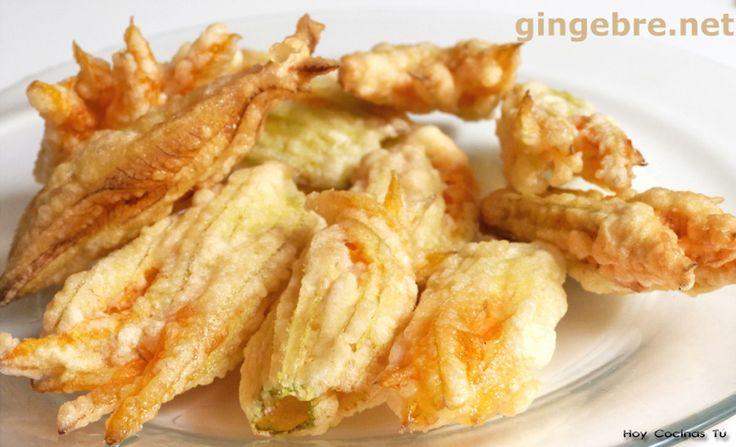 Hoy Cocinas Tú: Flor de calabacín rebozada