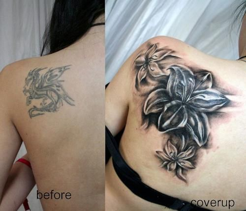 Would love something kind of like this to cover up the Angel on my soulder, I like color not big on shading.