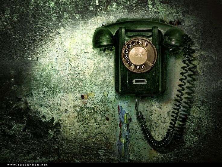 Старый  телефон.