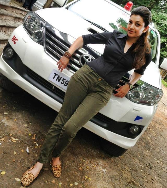 Kajal Aggarwal in Jilla Shooting Spot | Kajal Aggarwal ...