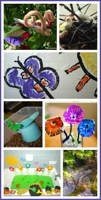 50+ Spring Kids Activities - ideas for exploring nature, gardening with kids, spring art, birds and nests, learning through nature and more!