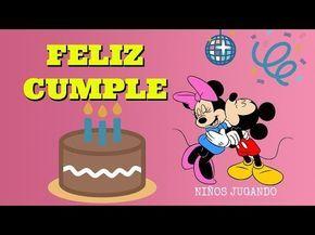 Canción de CUMPLEAÑOS FELIZ FROZEN ⛄ infantil tradicional - Felicitación para dedicar⛄NIÑOS - YouTube