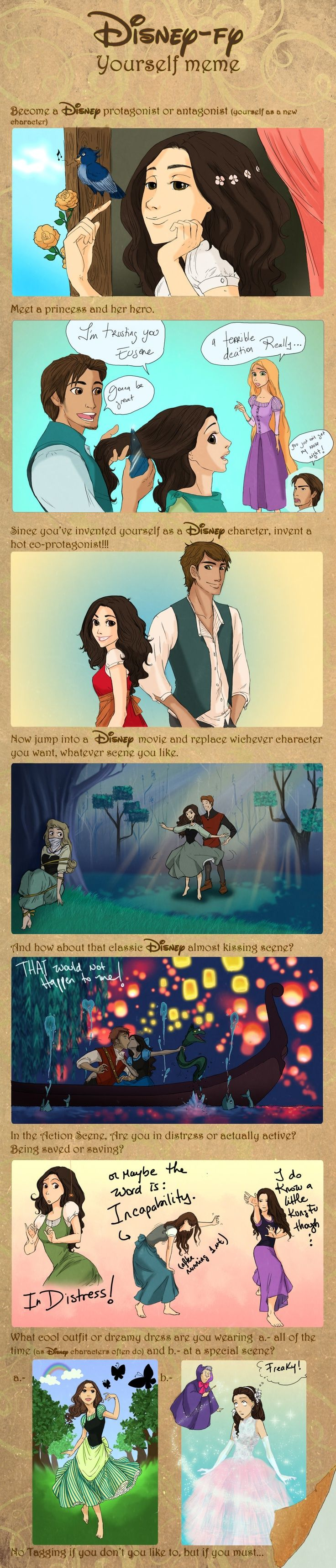 Disney-fy yourself, hahaha Im so gonna do this or team up with someone