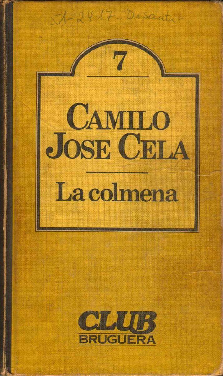 Portada de La Colmena, obra de Camilo José Cela, autor de la Literatura Contemporánea.