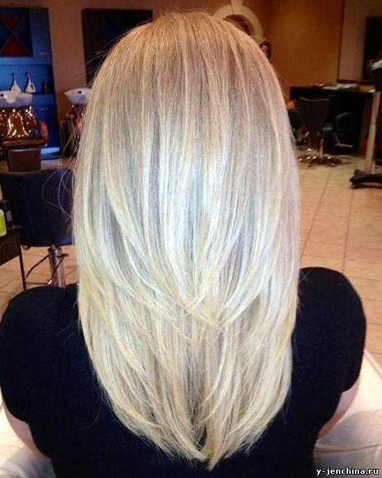 Стрижки на длинные волосы вид сзади
