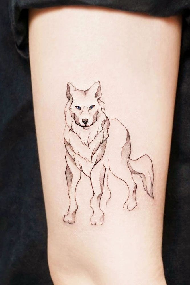 27 Inspiring Wolf Tattoo Ideas For Your Skin Small Wolf Tattoo Wolf Tattoos For Women Wolf Spirit Animal
