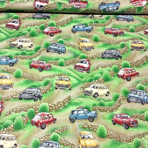 My next project for the classic mini owner in my life. #classicmini #quiltingproject #lovethisfabric #whatthisspace #myotherpassion #iquilting #judecelebrant