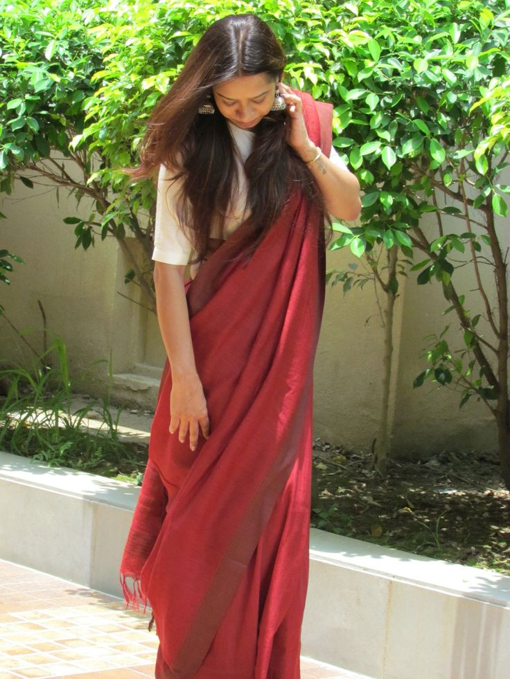 Pure #linen #Silk #Saree