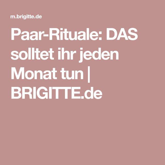 Paar-Rituale: DAS solltet ihr jeden Monat tun | BRIGITTE.de