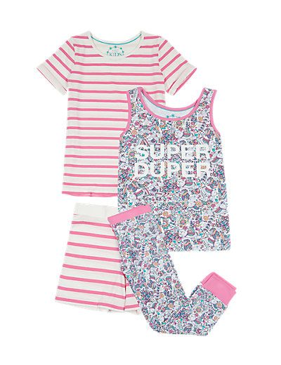 2 Pack Cotton Rich Assorted Pyjamas (6-16 Years) | M&S