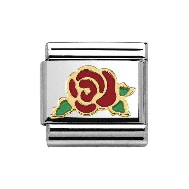 Nomination Composable Classic Madame et Monsieur Versailles rote Rose 030285/30