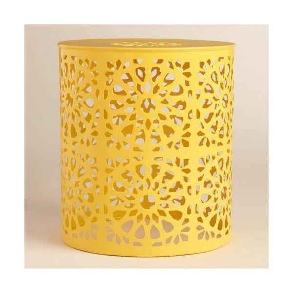 Cost Plus World Market Lemon Yellow Metal Soleil Drum Stool (£55) ❤ Liked. World  Market Outdoor FurnitureOutdoor ...