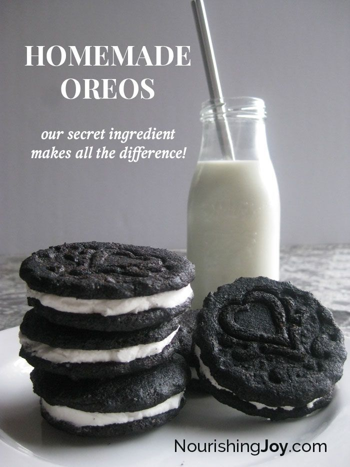 Homemade Oreos - our secret ingredient makes all the difference!