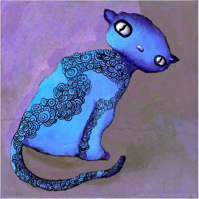 """Behemot""  Acrylmalerei inspiriert von Bulgakovs ""Der Meister und Margarita""  #acrylmalerei #acrylicpainting #cat #behemot #behemoth #bulgakov #margarita"