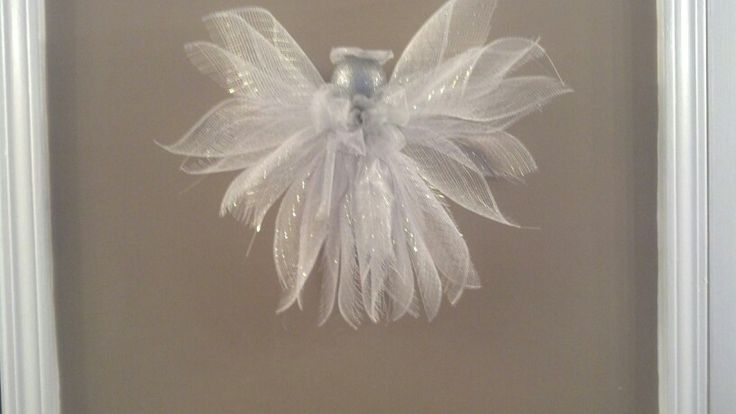 Angel Made Of Mesh Ribbon Holiday Crafts Pinterest