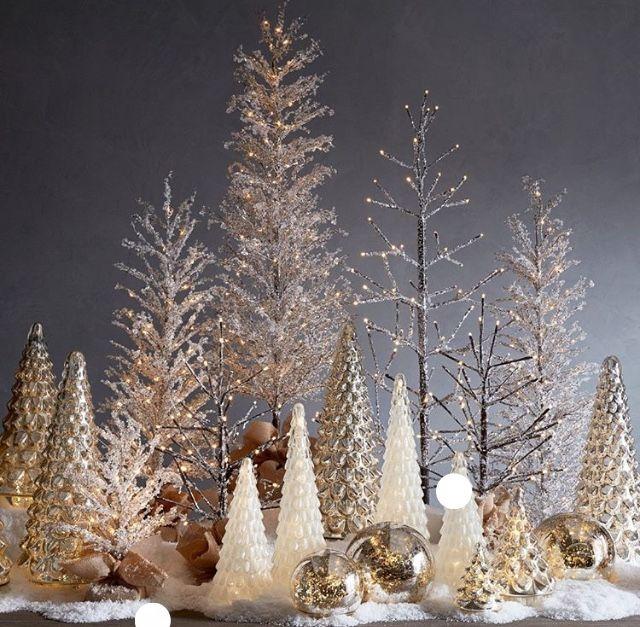 Pottery Barn White Christmas Decor