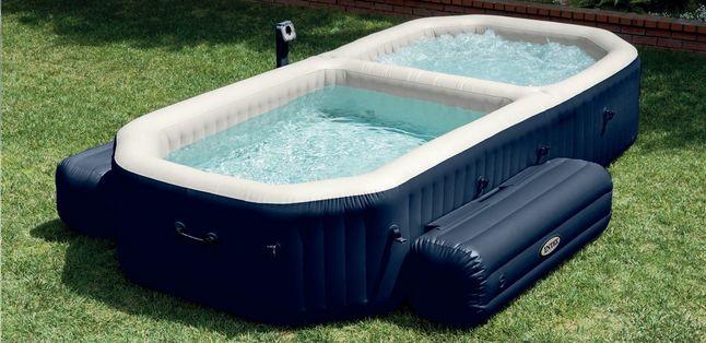 Weet je niet wat te kiezen: een jacuzzi of een zwembad? Met deze Spa Bubble Jets met zwembad van Intex kan je van beiden genieten!