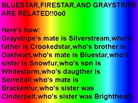Who's mate is Cloudtail, who's  mother is princess, who's brother is firestar!!!!!!!!! I got it!:D