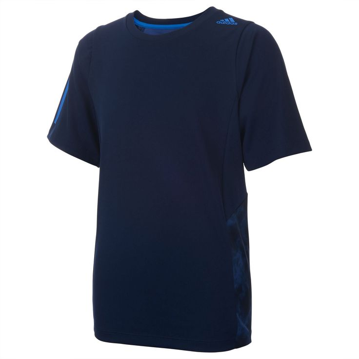 Boys 8-20 Adidas Smoke Screen climalite Tee, Boy's, Size: Small, Blue (Navy)