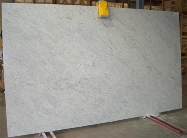Kashmir White Granite.  Like marble but doesn't stain.