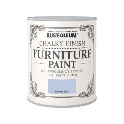 Rust-Oleum Chalky Furniture Paint Powder Blue 750ml