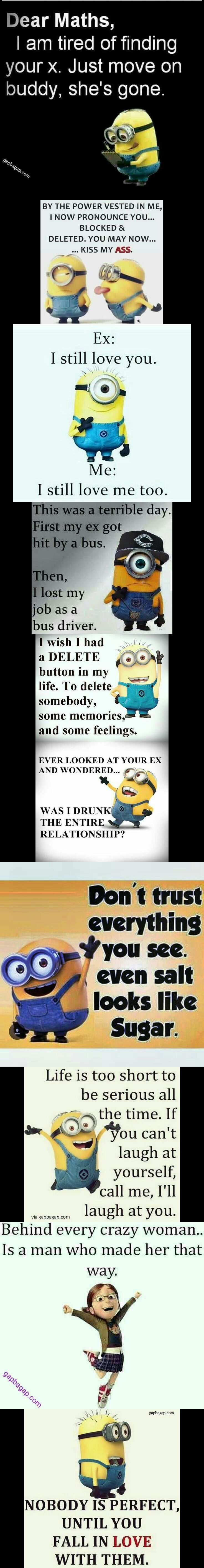 Top 10 Funny Quotes About Exes By The #Minions