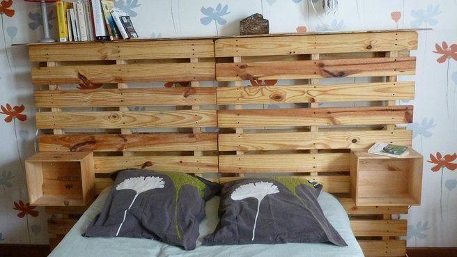1000 ideas about lit palette bois on pinterest lit - Lit en palettes de bois ...