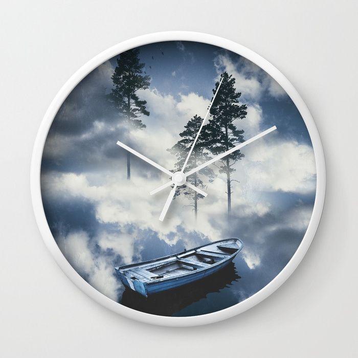 Forest sailing Wall Clock by HappyMelvin. #art #nature #photography #surreal #wallclocks #clock