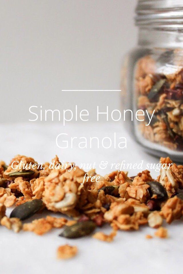 Simple Honey Granola Gluten, dairy, nut & refined sugar free