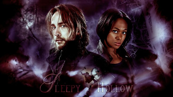 Ichabod and Abby rom Sleepy Hollow on TV