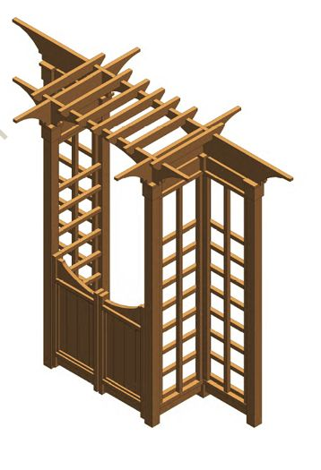 Garden Gate Arbors Designs the amazing of metal garden gates design to decorate your garden what an inviting Garden Arbor With Gates Possible Configuration Of Bhg Structure