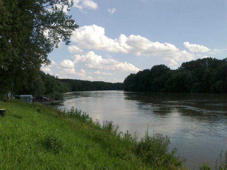 Tisza river .Tiszaroff village.