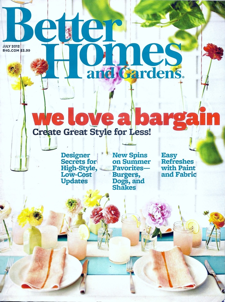 Better Homes And Gardens Magazine July 2012