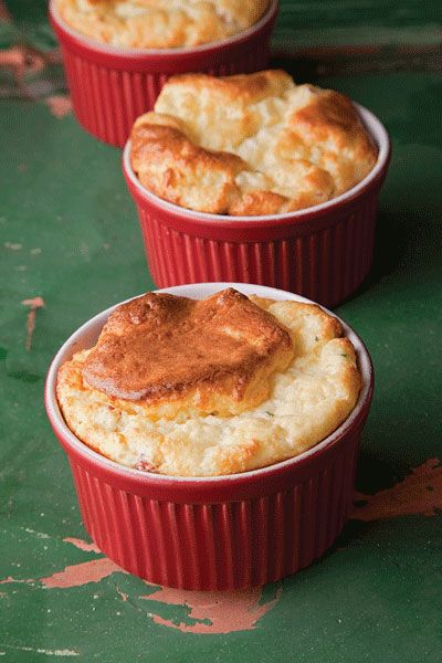 Saveur ham and cheese souffle. maybe one day when i'm swimming in time, this would be a lovely brunch for 6.