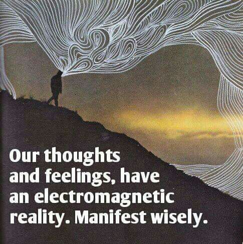 Thoughts and feelings create an electromagnetic field around us www.liberatingdivineconsciousness.com
