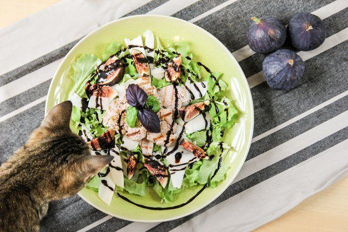 Sałatka z figami i polędwiczką wieprzową - Cook it Lean - sprawdzone paleo przepisy