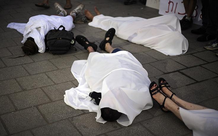 Tel Aviv, Israel: People protest against a possible Israeli attack on IranPhotograph: David Buimovitch/AFP/Getty Images: Buimovitch Afp Getty Images, David Buimovitch Afp Getty, People Protest, Tel Aviv, Israeli Attack