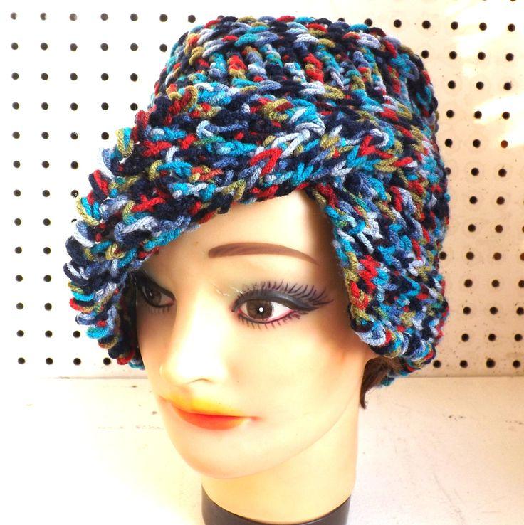 Crochet Hat Flap Hat CLAIRISSE Crochet Beanie Hat Denim Plus Blue Hat 45.00 USD http://ift.tt/1C2YHkl  by strawberrycouture (45.00 USD) http://ift.tt/1C2YHkl