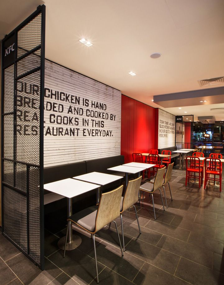 Kfc restaurant concept by cbte mimarlik turkey hotels restaurants pinterest kfc Kitchen design for fast food restaurant