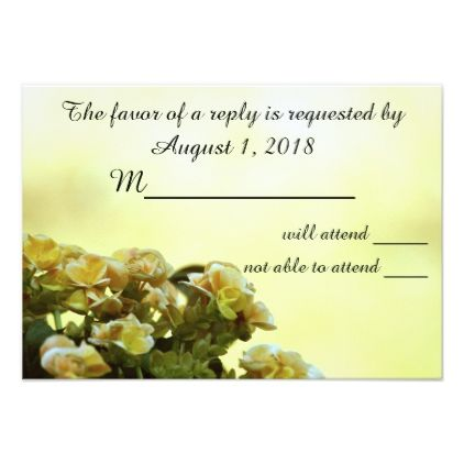 'Begonia Wedding' RSVP Card 401 - invitations custom unique diy personalize occasions