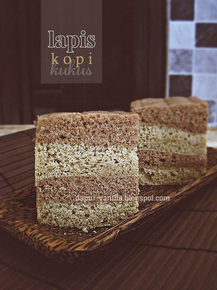 Dapur Vanilla: Cake Putih Telur 3: Lapis Kopi Kukus