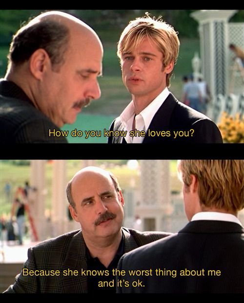 Meet Joe Black- LOVE this movie! Almost as much as Tieriam loves A Knights Tale