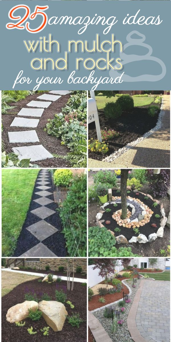 Landscaping Ideas With Mulch And Rocks In 2020 Amazing