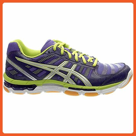 Asics GelCyber Shot Womens Volleyball Shoe 10.5 Purple-Silver-Lime - Athletic shoes for women (*Amazon Partner-Link)