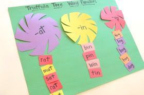 Dr. Seuss Inspired Truffula Tree Word Families