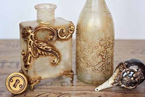 Pentart dekor: Barokk díszüvegek opálrepesztővel