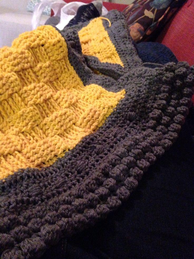 Basket weave crochet blanket | Did it myself! | Pinterest | Crochet ...